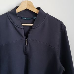 Perry Ellis Navy Pull Over with Zipper Size M